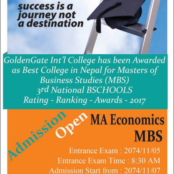 Admission open Masters of Business Studies and MA Economics